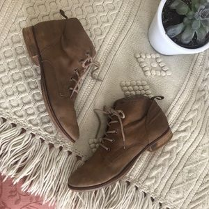 26657431f58c7 Sam Edelman Mare Lace Up Ankle Booties Putty Tan